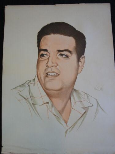 Water color Vintage Poster 23X17 Jose Antonio Echeverria Fidel Castro Che guevar
