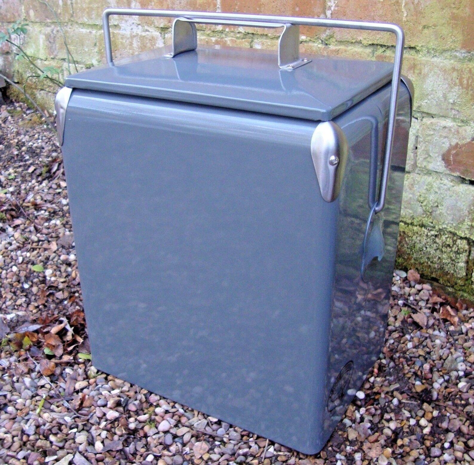 Rétro Frigobox Grigio Refrigeratore 17L Vintage Borsa frigo matrimonio regalo