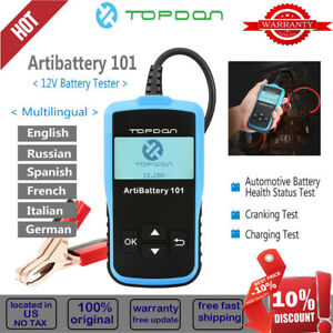 Image Is Loading Topdon Artibattery 101 Car Battery Tester Auto Yzer