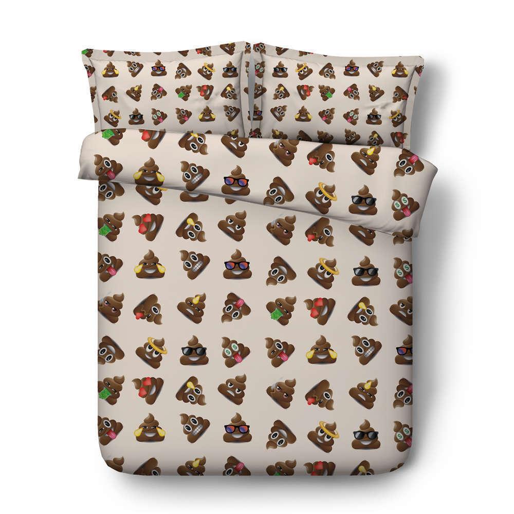 All Kinds Poop 3D Printing Duvet Quilt Doona Covers Pillow Case Bedding Sets