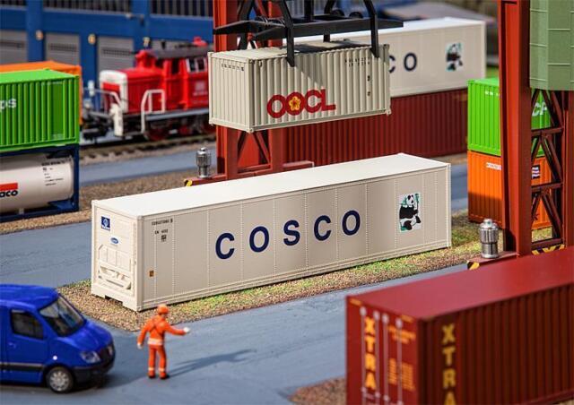 FALLER 180851  40' Hi-Cube Refrigerator Container COSCO 1:87