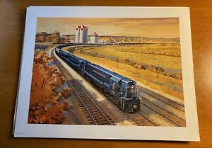 Original-Norfolk-And-Western-Railway-Autumn-Print-Beautiful-8-x10