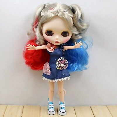 "Dolls, Clothing & Accessories Suitable For 12"" Neo Blythe Doll Takara Doll Fashion Denim Skirt Dress wamami"
