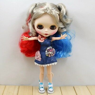 "wamami Dolls, Clothing & Accessories Suitable For 12"" Neo Blythe Doll Takara Doll Fashion Denim Skirt Dress"