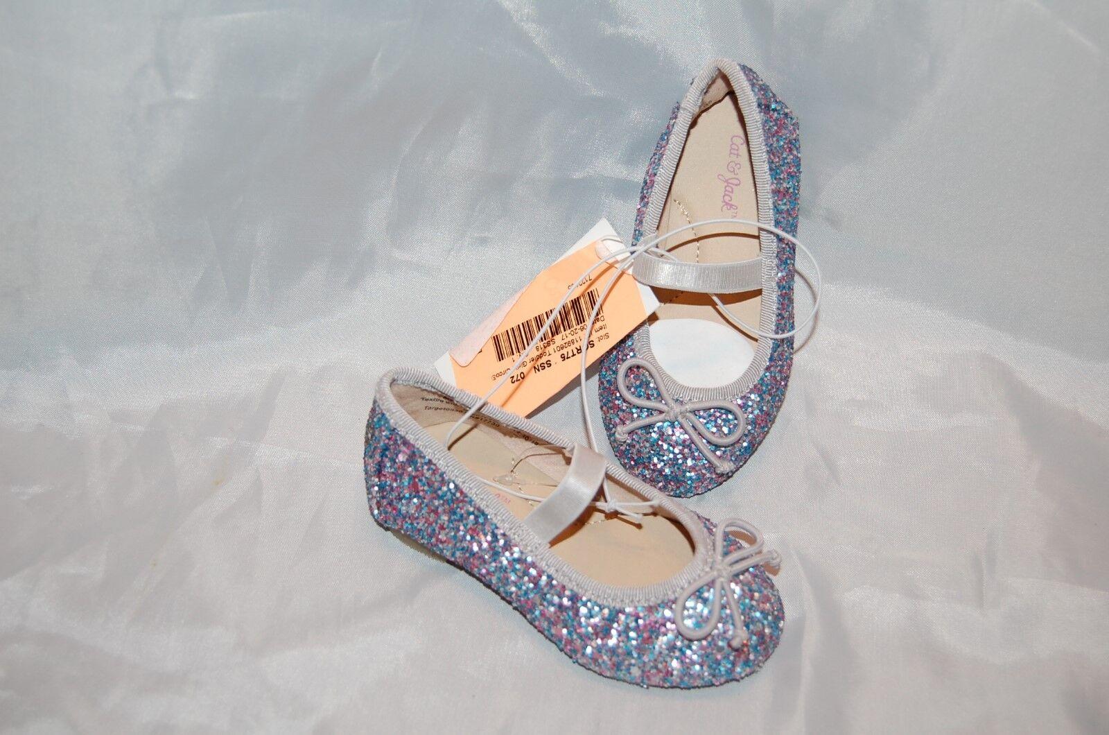 0461ce109ea6 Toddler Girls Shoes Cat & Jack Purple Glitter Cacey Ballet Flats ...
