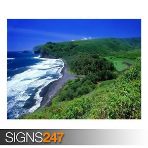 POLOLU-VALLEY-HAWAII-3290-Beach-Poster-Photo-Poster-Print-Art-All-Sizes