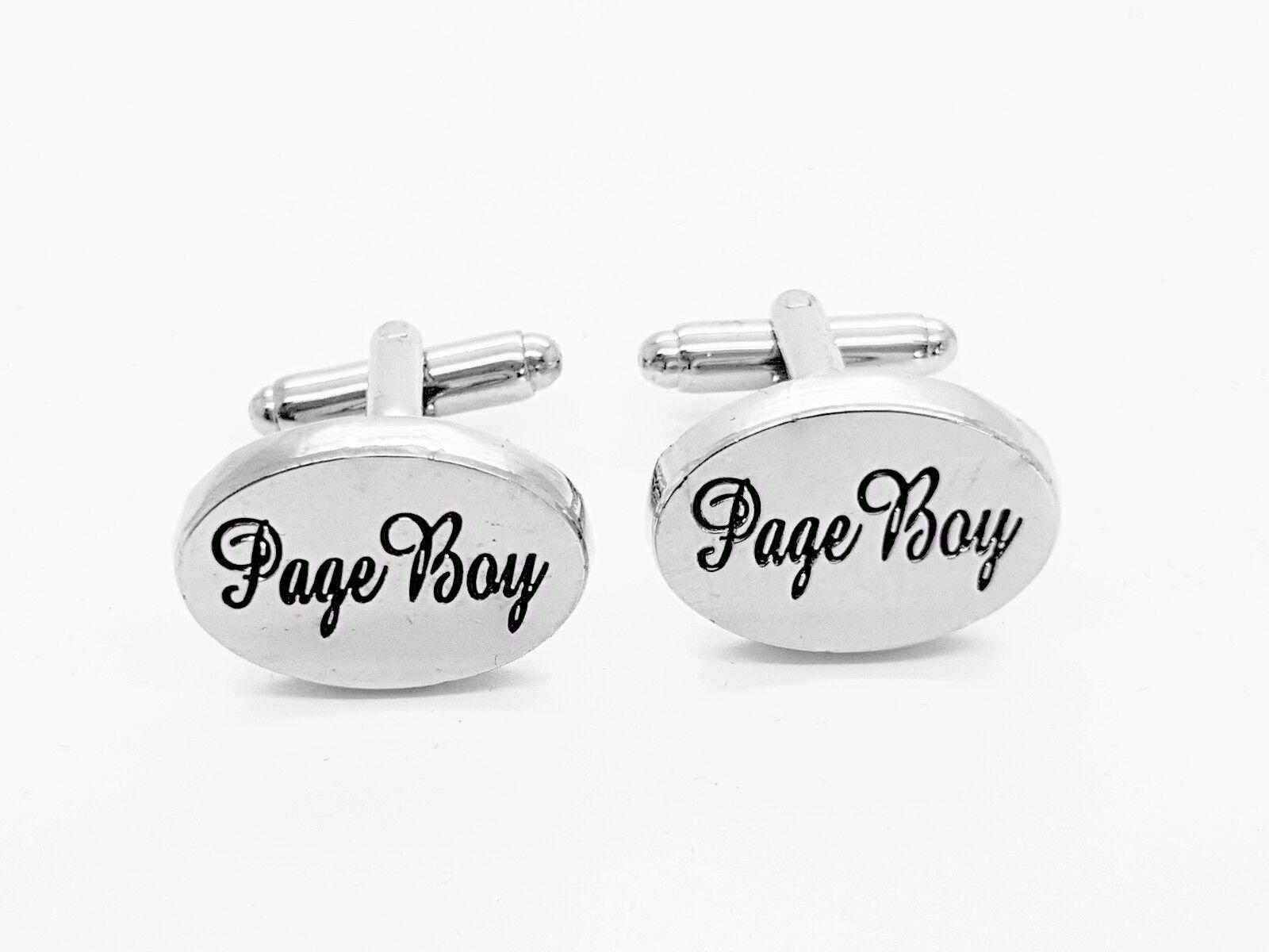 Silver David Van Hagen Mens Page Boy Cufflinks