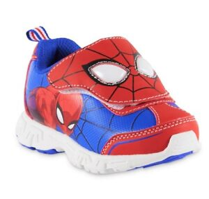 289787864a8 SPIDER-MAN MARVEL COMICS Boys Light-Up Sneakers Shoes Size 7 8 9 10 ...
