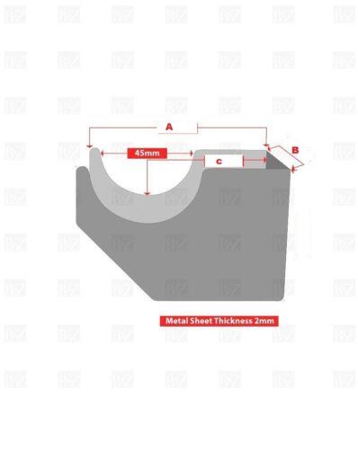 RADIATORE a doppio braccio di marca staffe antracite con kit di fissaggio GRATIS