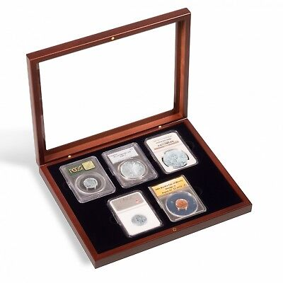 Leatherette Display Box 5 Slabs Universal Certified 5 Coin Slabs Holder PCGS NGC