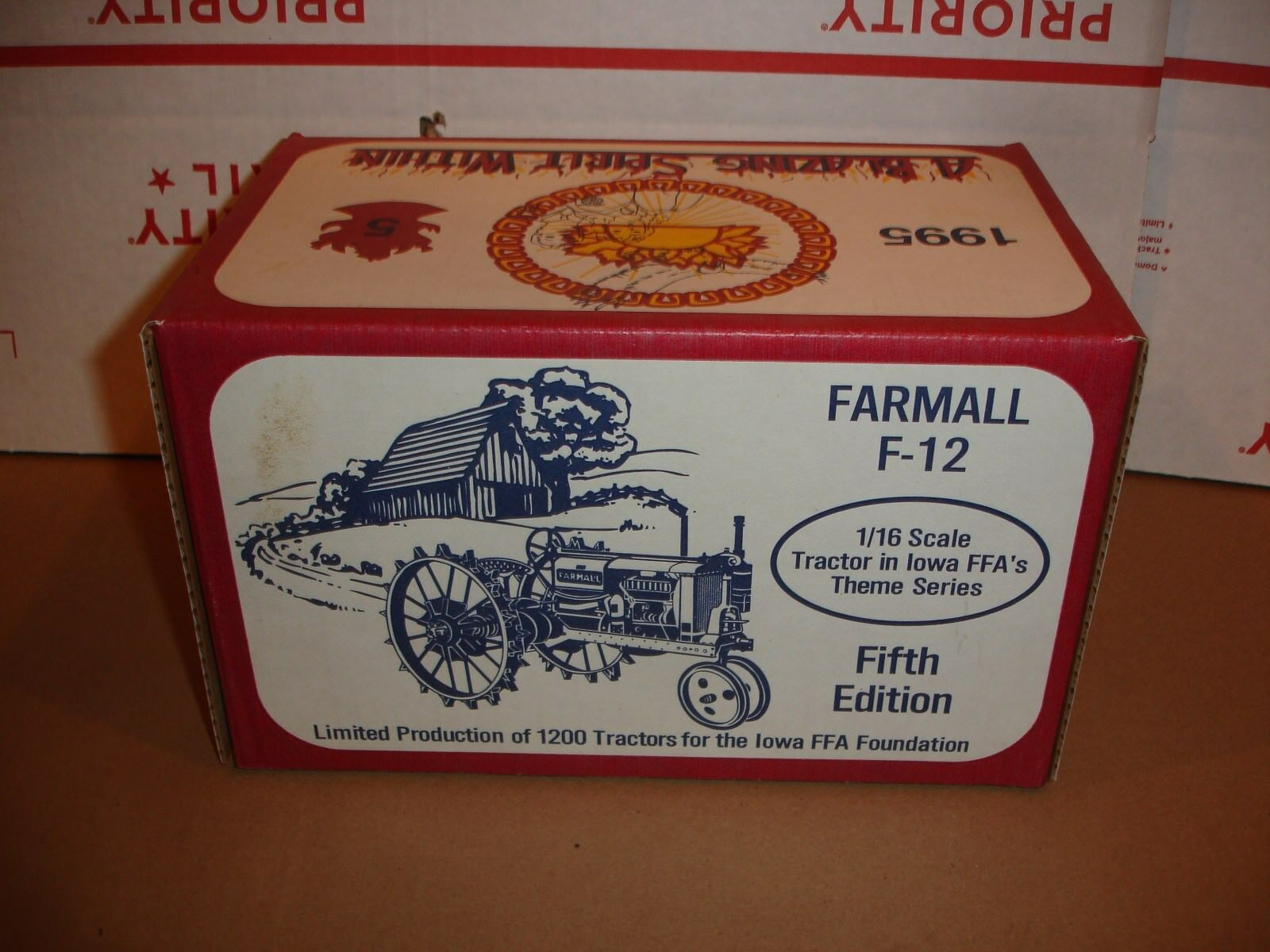1 16   farmall f 12 iowa ffa toy tractor