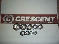 Crescent Hand Tools 9pc 3/8 Dr Sae Standard 12pt Ratchet Wrench Socket Set