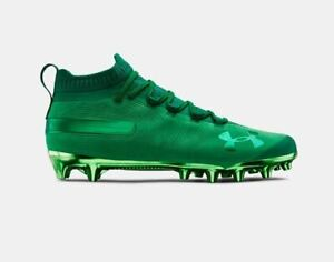 New Mens Under Armour Spotlight Suede Mc Football Lacrosse Cleats Green Sz 9 M 192811378789 Ebay