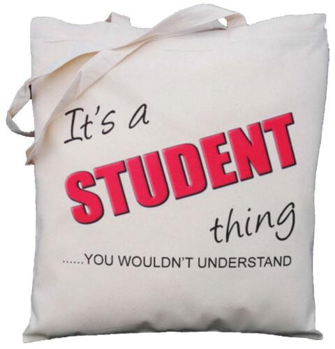 you wouldn/'t understand Natural Cotton Shoulder Bag It/'s a STUDENT thing