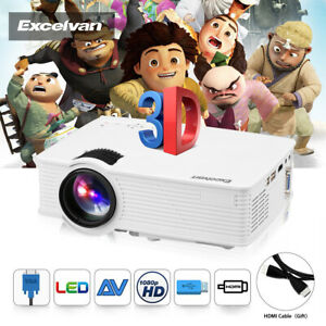Mini-LED-Projector-7000-Lumens-3D-1080P-Home-Cinema-Theater-Video-Game-HDMI-VGA