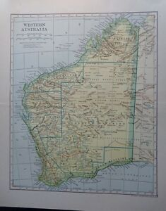 Map Of Australia Great Victoria Desert.Details About 1907 Western Australia Great Victoria Desert Gibsons Dodd Mead Co Colorful Map