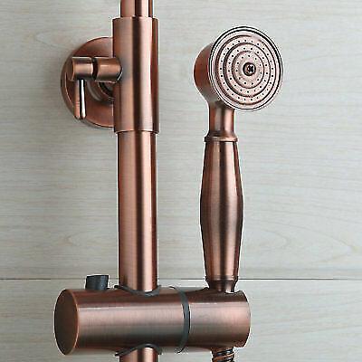 Shower Faucet Set Antique Copper Round Rain Shower Heads Mixer Wall Mount Tap