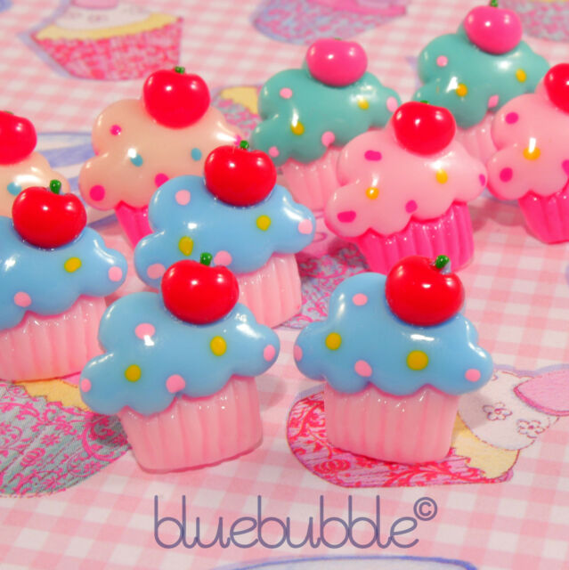 FUNKY CUPCAKE EARRINGS SWEET MUFFIN BAKING CUTE KITSCH RETRO KAWAII JUNK FOOD UK