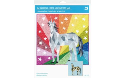 VIOLET CRAFT VC035  UNICORN HORSE ABSTRACTIONS QLT PTRN