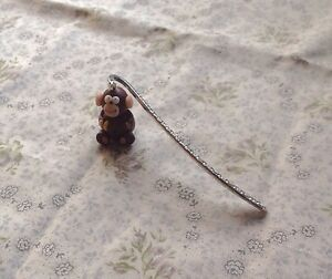 Monkey-bookmark-Tibetan-Silver-Cute-Handmade-Fimo