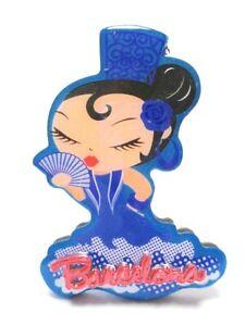 Barcelona Flamenco Dancer Photo Magnet Epoxy Spain Souvenir España