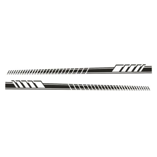 Universal Black Stripe Decal Vinyl Side skirt Sticker Racing Sport Style A HK K
