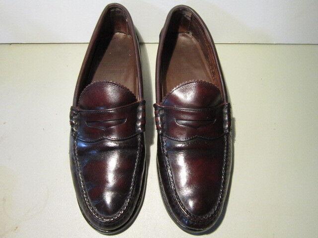 Men's burgundy Allen Edmonds penny loafers size 10 1 2 A