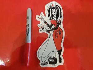 Lowbrow-Kustom-Kulture-Hot-Rod-Sticker-The-Pizz-Von-Franco-Roth-Pigors-Nurse