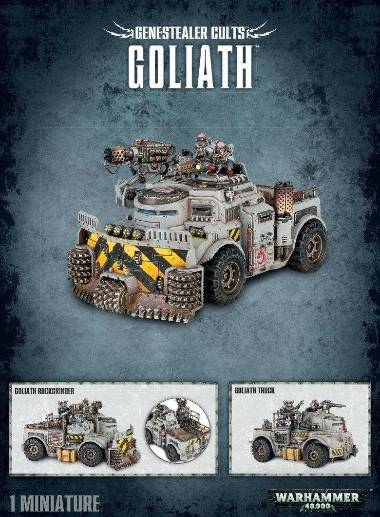 Genestealer Cults Goliath Workshop Warhammer 40000 Tanque Panzer Tyraniden 51-53