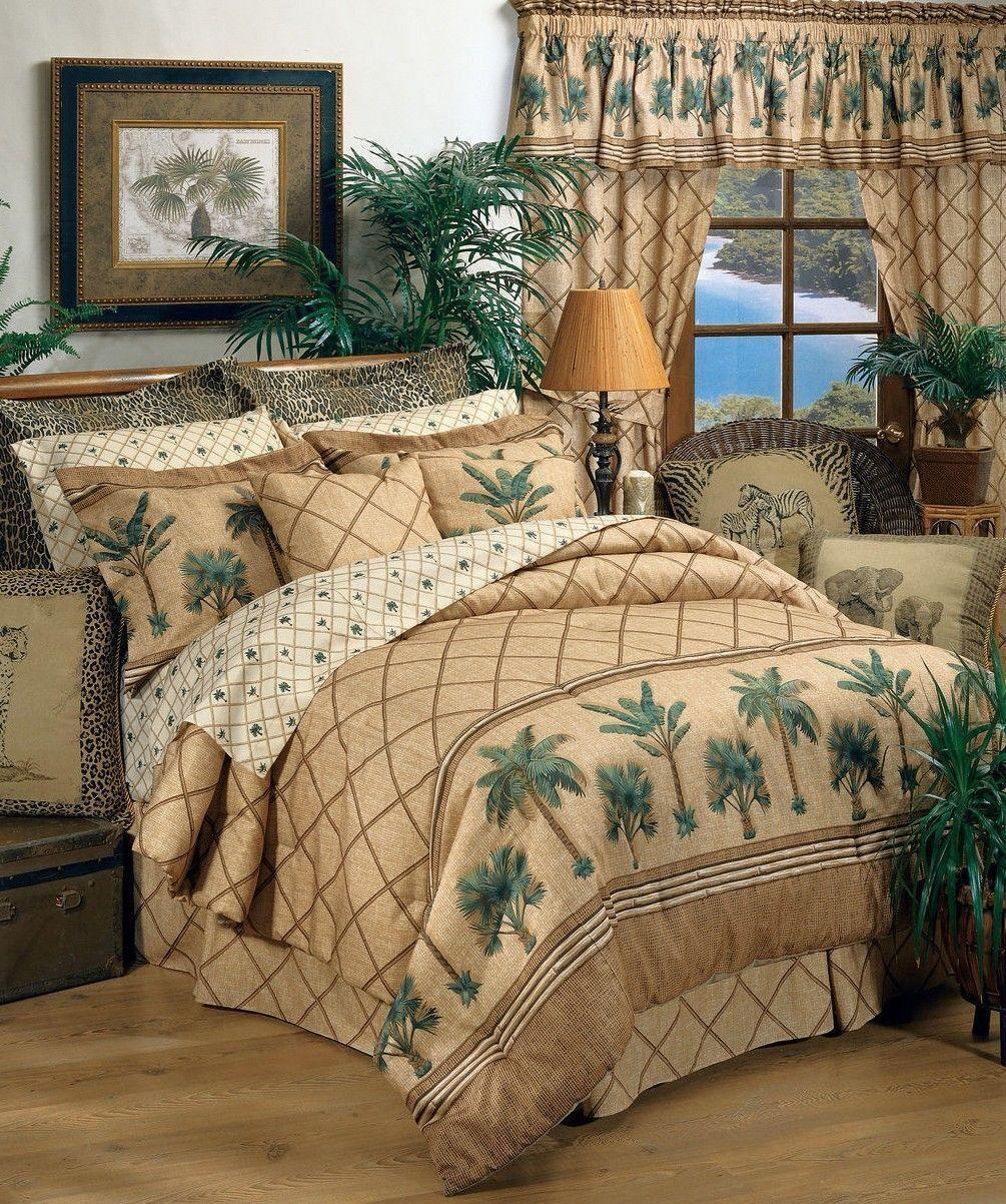 Kona Palm Tree Tropical Comforter Set with Sheet and Curtain Options  FREE SHIP