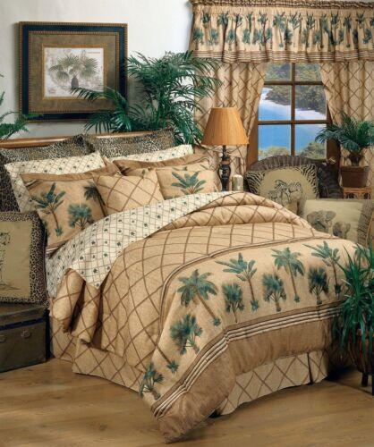 FREE SHIP Kona Palm Tree Tropical Comforter Set with Sheet and Curtain Options
