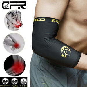 Copper-Tennis-Elbow-Compression-Support-Brace-Joint-Pain-Infused-Arm-Sleeve-TS