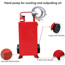 Portable Rolling 30 Gallon Gas Caddy Fuel Diesel Transfer Containerrotary Pump