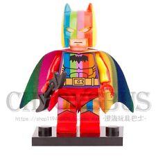 Rainbow Batman Movie Justice League DIY assemble Minifigures Kids Gifts Toys