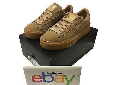 official photos 5b263 97952 PUMA BY RIHANNA CREEPERS FENTY SUEDE ALL OATMEAL BROWN TAN WOMEN'S 5.5-10  DS | eBay