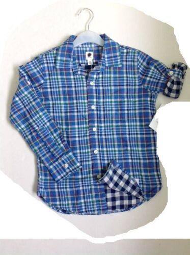 Boys shirt GAP checked long sleeve age 4 5 6 7 8 9 10 11 12 13 14 years RRP £18+