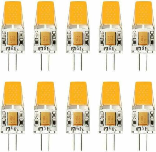 10X G4 1508 2.5W LED Light Bulb Bi-Pin Base AC//DC12V Halogen Replacement Lamp