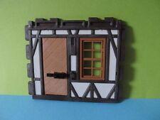 PLaymobil*Wand Mauer Fachwerk Teil Tür Fachwerkhaus *Ritterburg 3666* 3450*3667