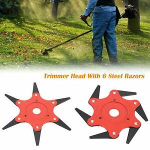 6-Steel-Blades-Razors-65MN-Universal-Lawn-Mower-Garden-Trimmer-Head-Brush-Cutter