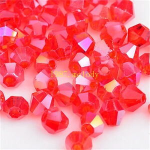 100pcs-red-ab-exquisite-Glass-Crystal-4mm-5301-Bicone-Beads-loose-beads