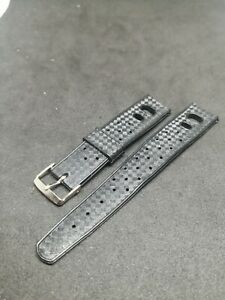 Vintage-Tropic-Style-Rubber-Strap-For-Diver-Chronograph-Watch