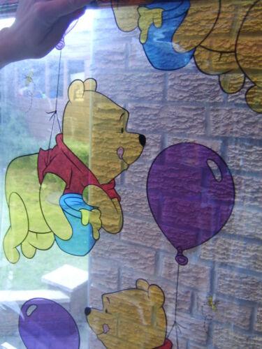 Winnie l/'ourson Statique Accrocher Fenêtre Couvrant Autoadhésif Fenêtre Stik 1.5 m Roll