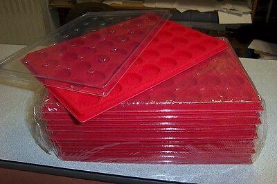 alvéoles rondes+couvercle Plateau de rangement en feutrine rouge 40 capsules