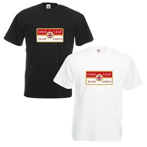 Gold-Leaf-Team-Lotus-T-Shirt-Car-Enthusiast-Classic-F1-VARIOUS-SIZES-amp-COLOURS