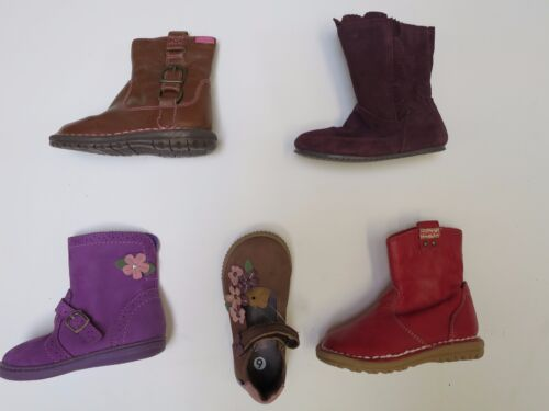 RRP £20-£22 red tan brown Girls Shoes Boots Leather ex M /& S size 4 5 6 7 8 9