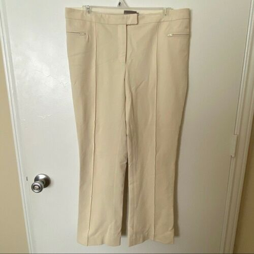 Moncler Cream Wool Flare Pants