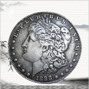 USA-United-States-Morgan-Dollar-1-1888-Silver-Coin-Collection-Antique-Dollar-AU