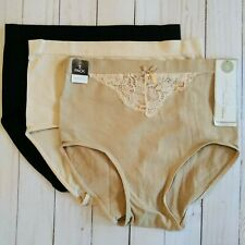 Marilyn Monroe Intimates 3-pack Shaping Briefs Plus Size L or 1X $42 BU82217