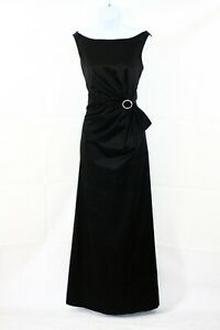 HOBBS-COCKTAIL-Black-Boat-Neck-Special-Occasion-Maxi-Ballgown-Dress-Uk-12