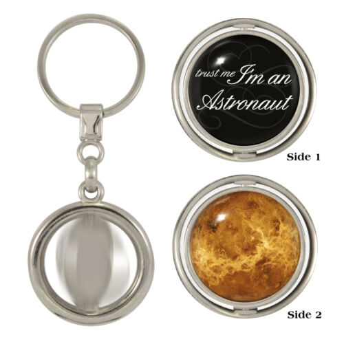 Trust Me I/'m An Astronaut /& Venus Spinning Keyring nasa space ISS apollo NEW